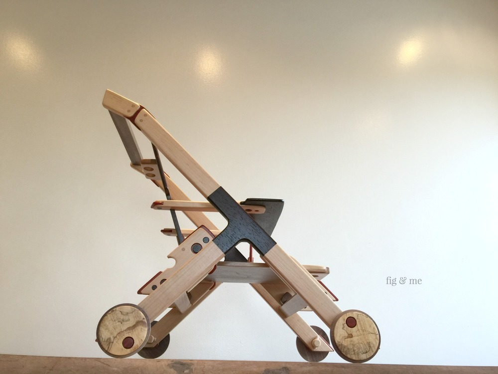 Wooden stroller by Fig and Me.