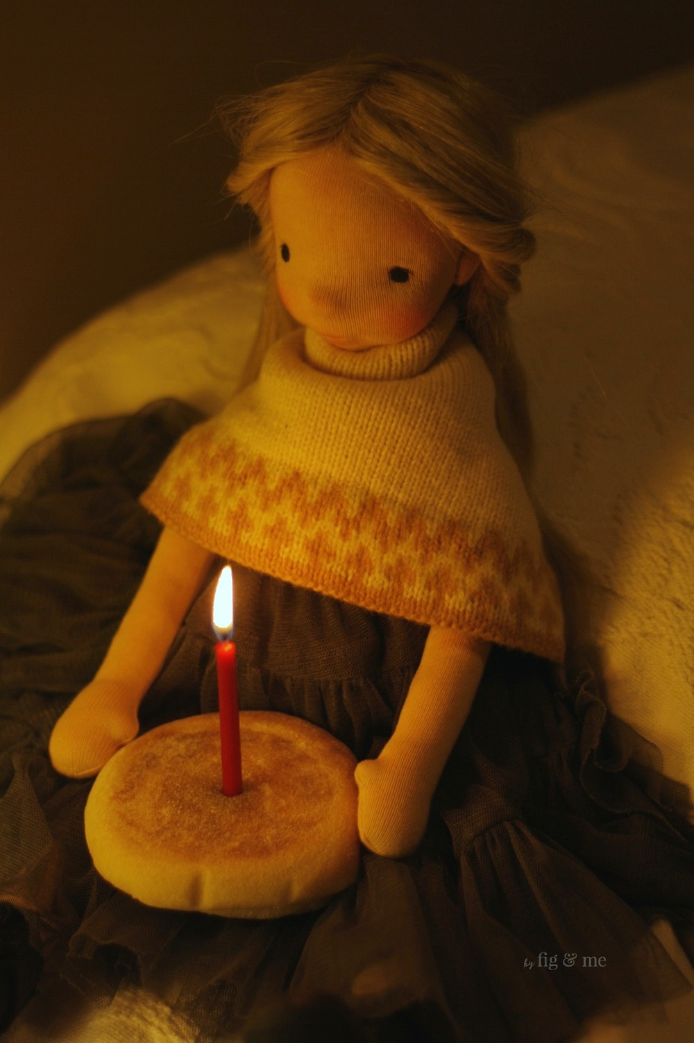 Nova celebrates her birthday with a lucky candle, by Fig and Me.