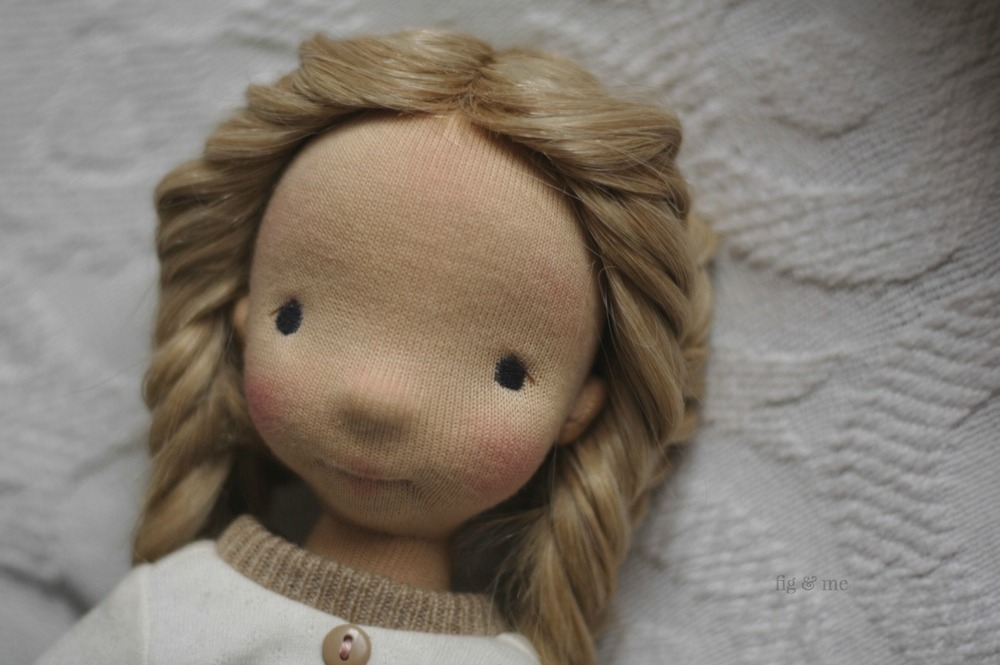 Nova, a natural Mannikin style doll by Fig and Me.