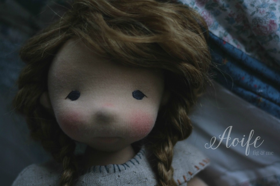 Aoife, the sweet. A natural fiber art doll by Fig and Me.