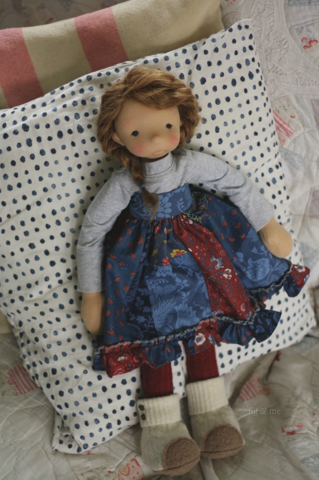 Aoife, a natural fiber art doll by Fig and Me.