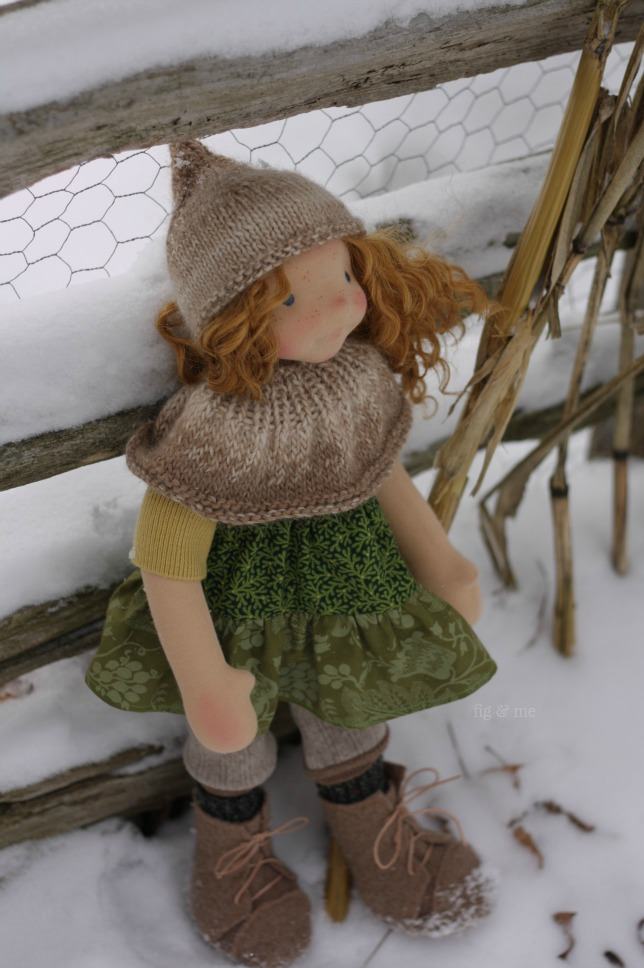 Cliodhna, a natural fiber art doll by Fig and Me.