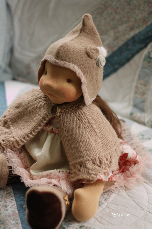 Isabella, a natural doll by Fig and Me.
