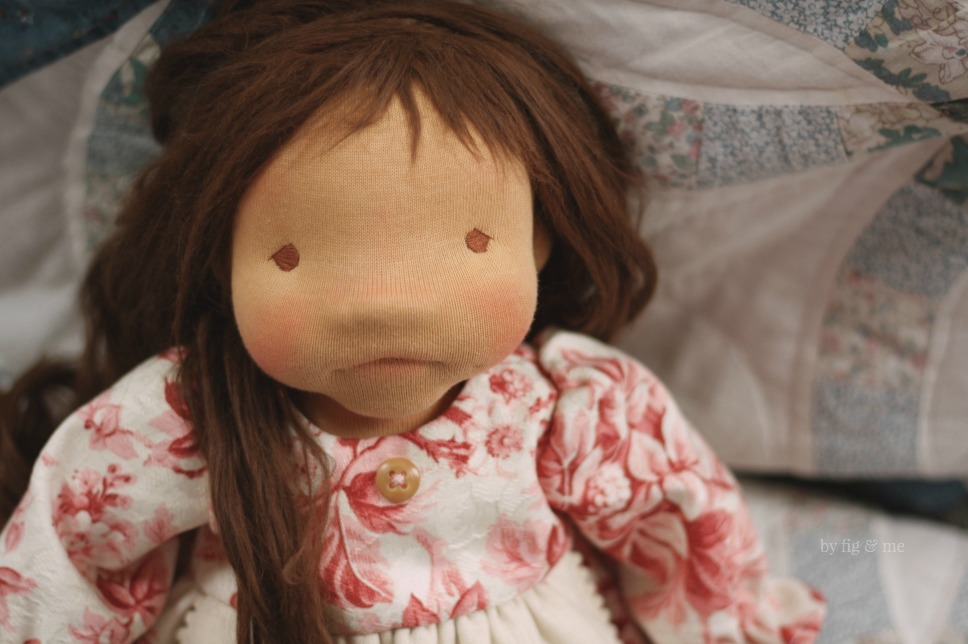 Isabella, a natural cloth doll by Fig and Me.