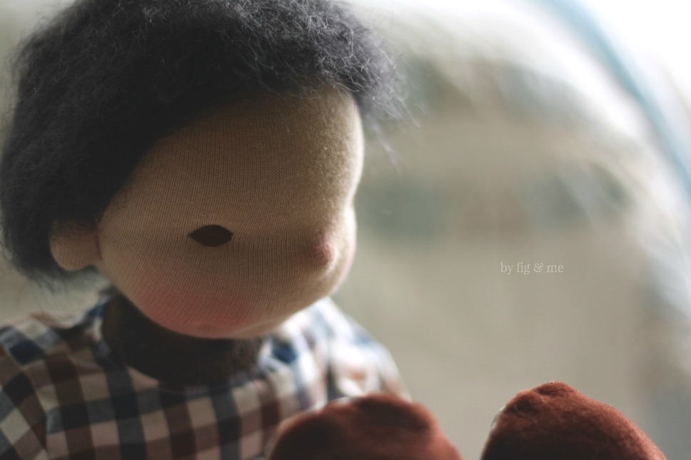 Ryan, a natural doll by Fig and Me.