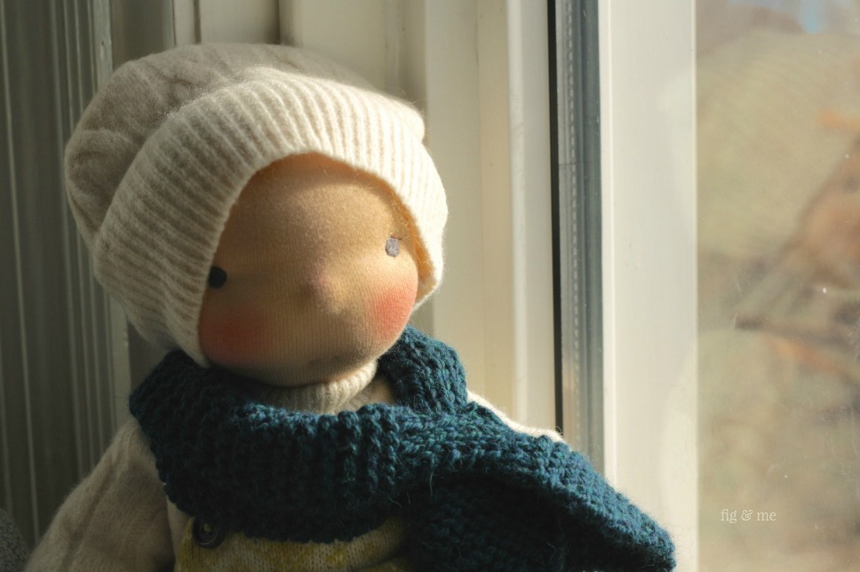 Fletcher, a natural cloth doll by Fig and Me.