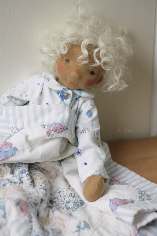 Harriet, a natural fiber art doll  by Fig and Me.