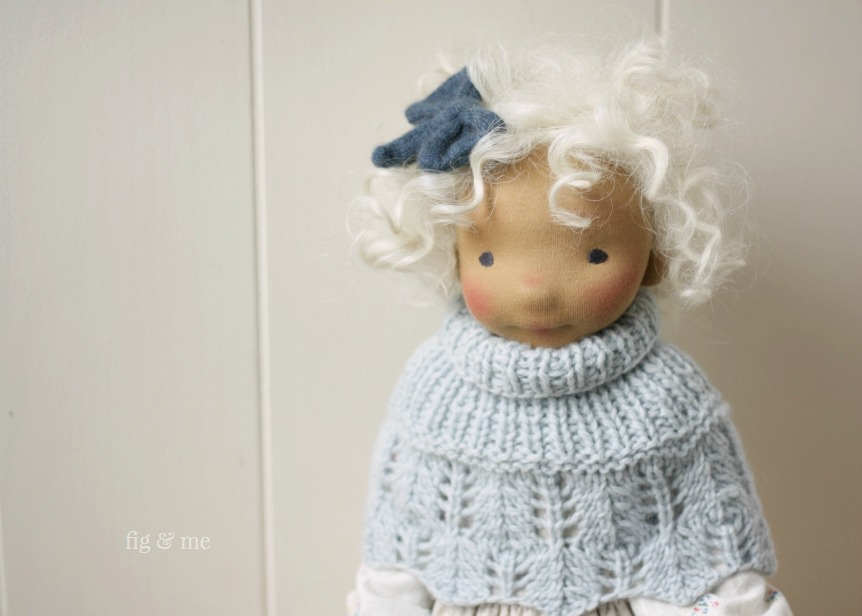 Little Harriet, a natural fiber art doll by Fig and Me.