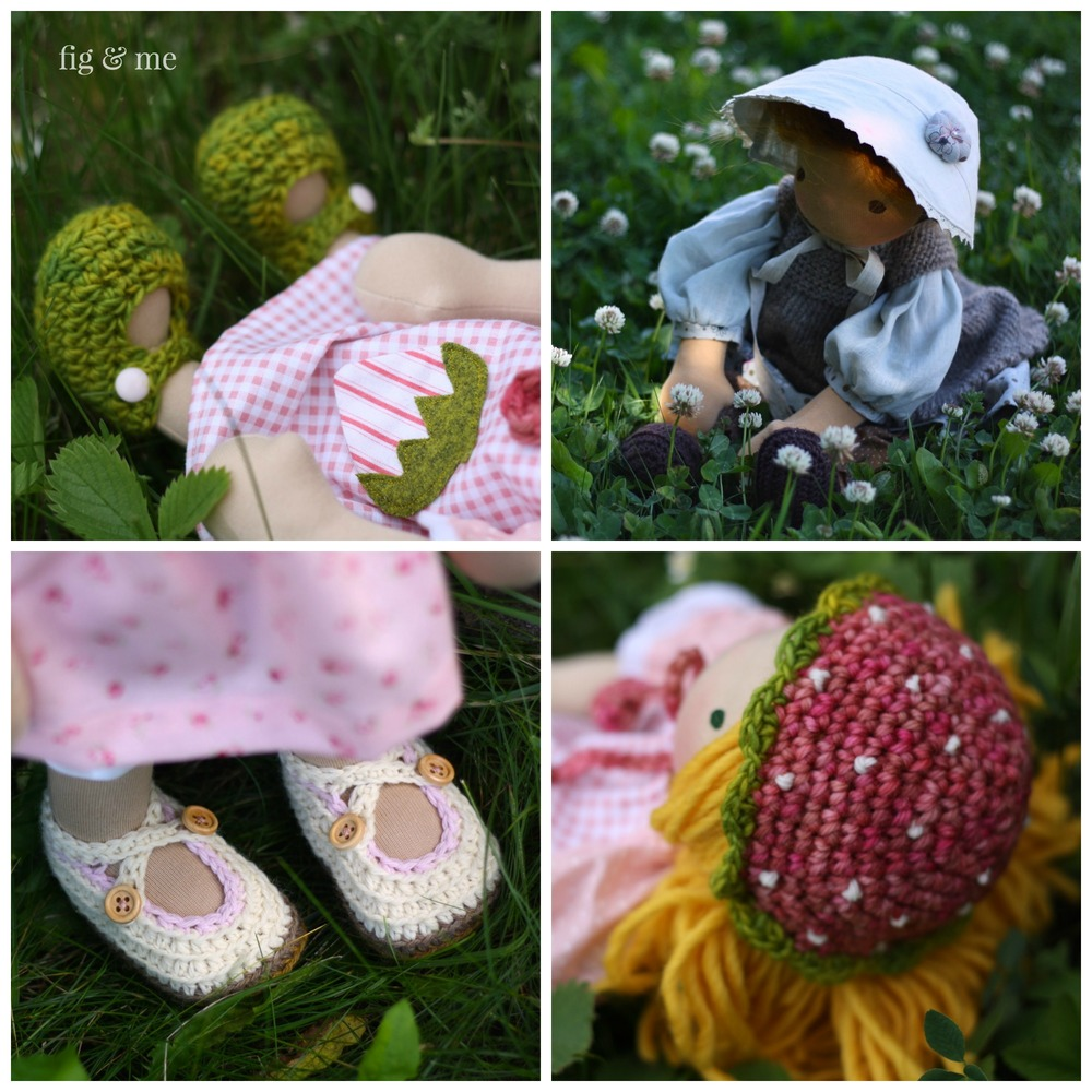 Lots of inspiration for doll clothing, for waldorf inspired or natural fiber art dolls, via Fig and Me.