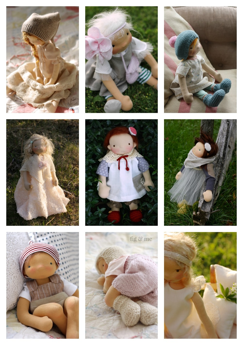 Lots of inspiration and helpful links to create or buy doll clothing for your waldorf inspired or natural fiber art doll, via Fig and Me.