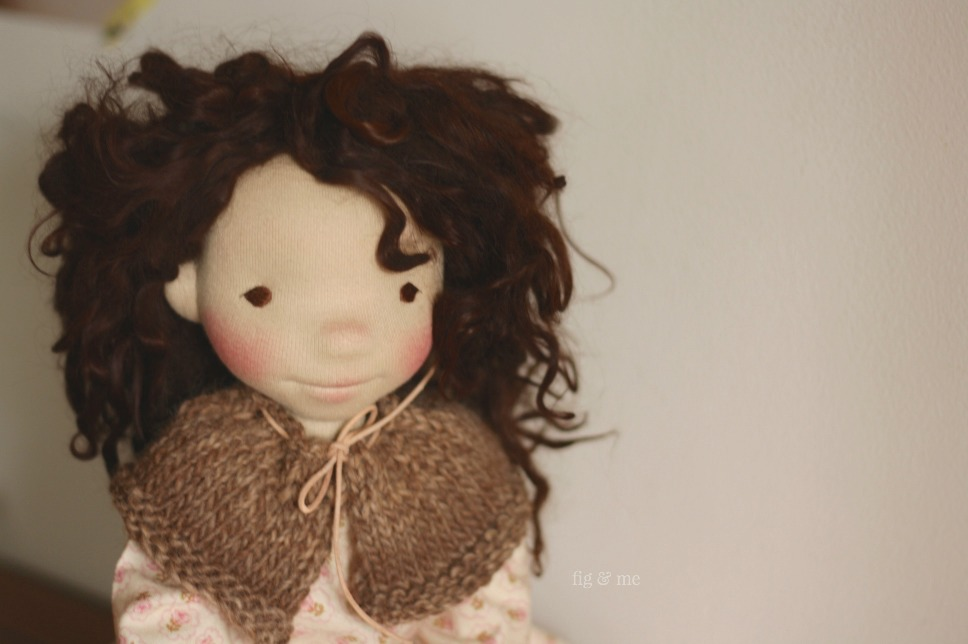 Oona, a natural fiber art doll (waldorf inspired) by Fig and Me.