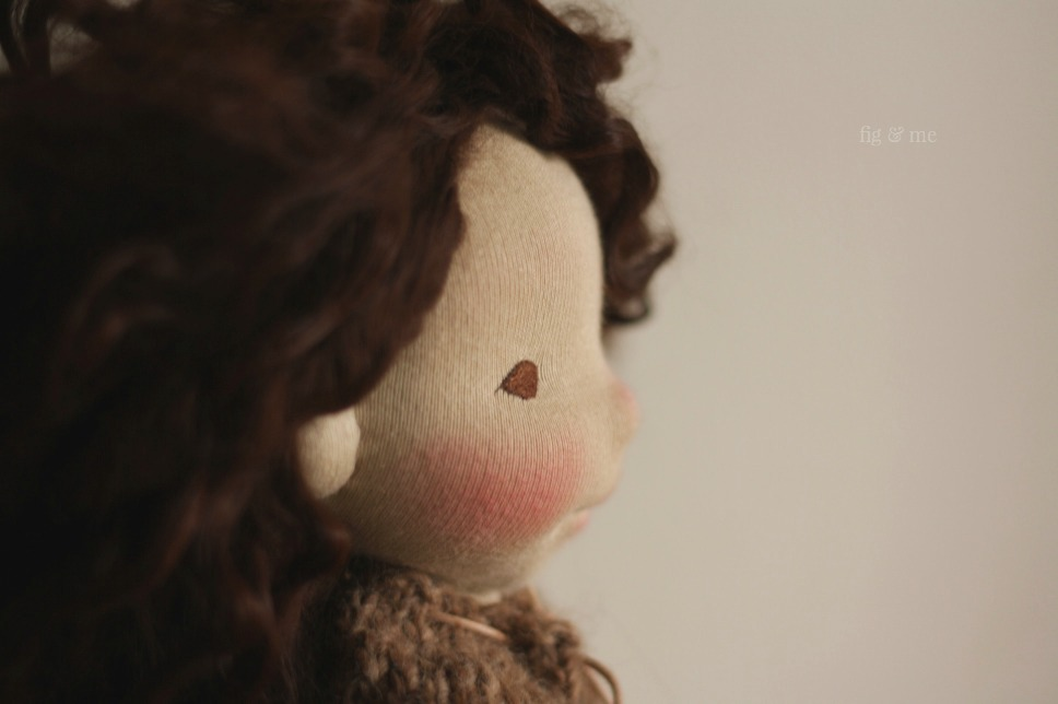 Oona, a natural fiber art doll by Fig and Me.