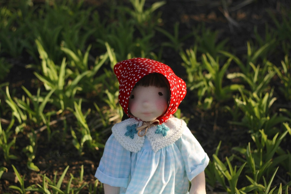 Imogen, a natural fiber art doll by Fig and Me.