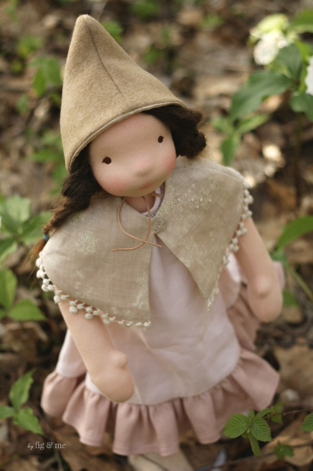 Mathilde, a natural fiber art doll by Fig and Me.