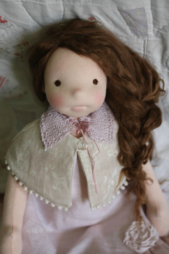 Wilhelmina, a natural doll by Fig and Me.