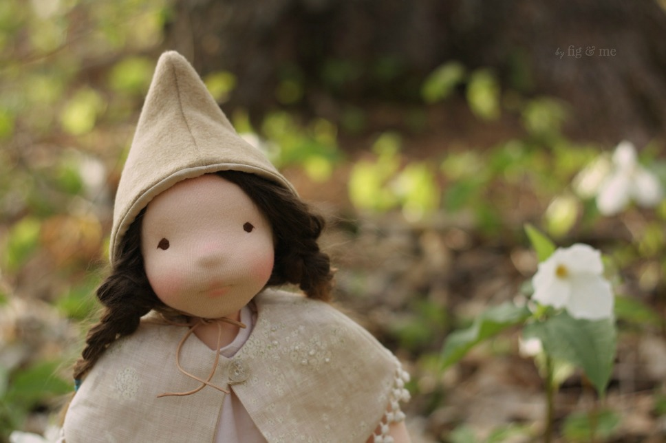 Mathilde, the middle sister in the woods. By Fig and Me.