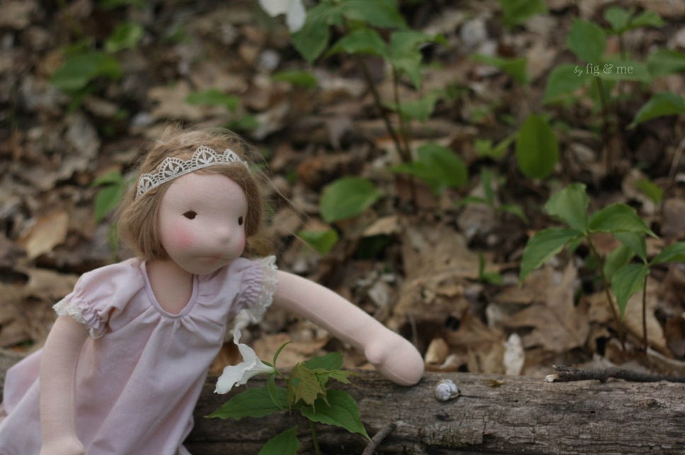 Augusta in the woods, by Fig and Me.