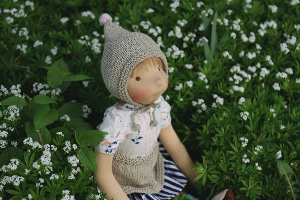 Saskia in the garden, by Fig and Me.