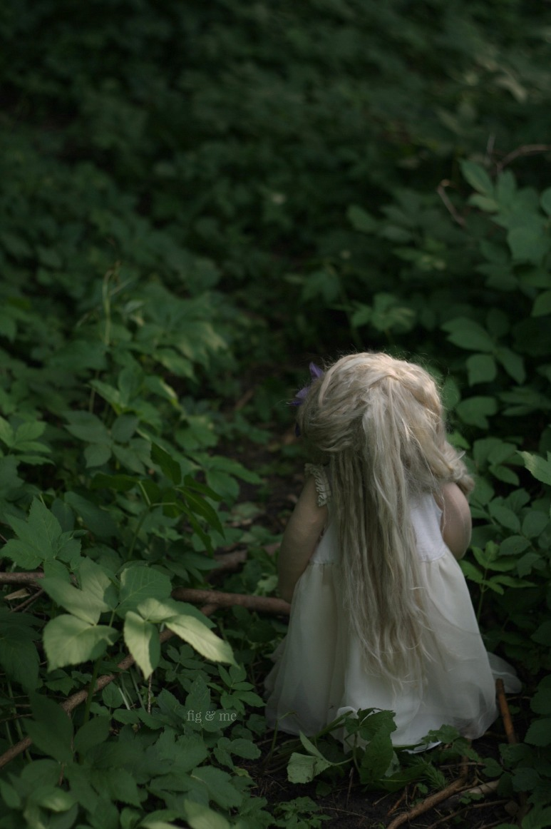 Into the woods.Phoebe, a one of a kind natural fiber art doll, by Fig and Me.