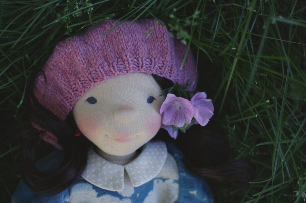 "Dagmar, a 18"" natural fiber art doll, waldorf inspired by Fig and Me."