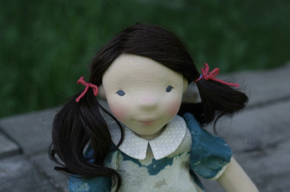 Dagmar, a natural fiber art doll by Fig and Me.