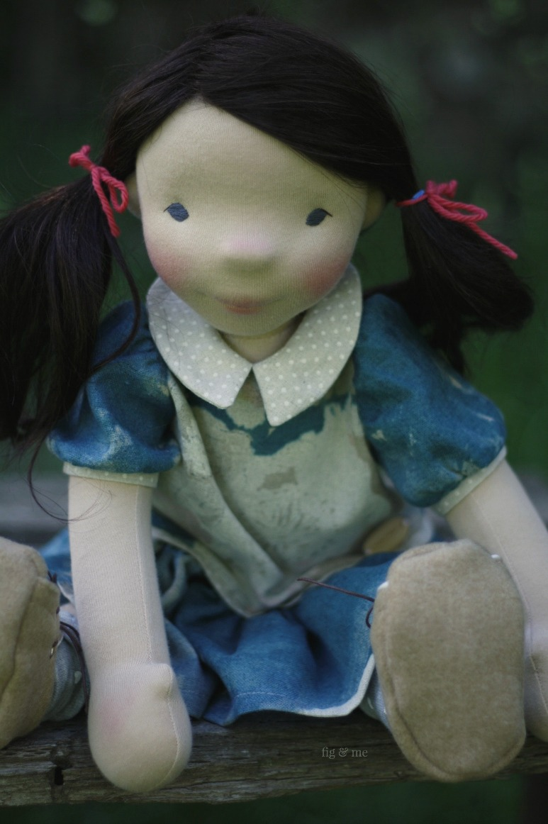 Dagmar is a natural fiber art doll by Fig and Me.