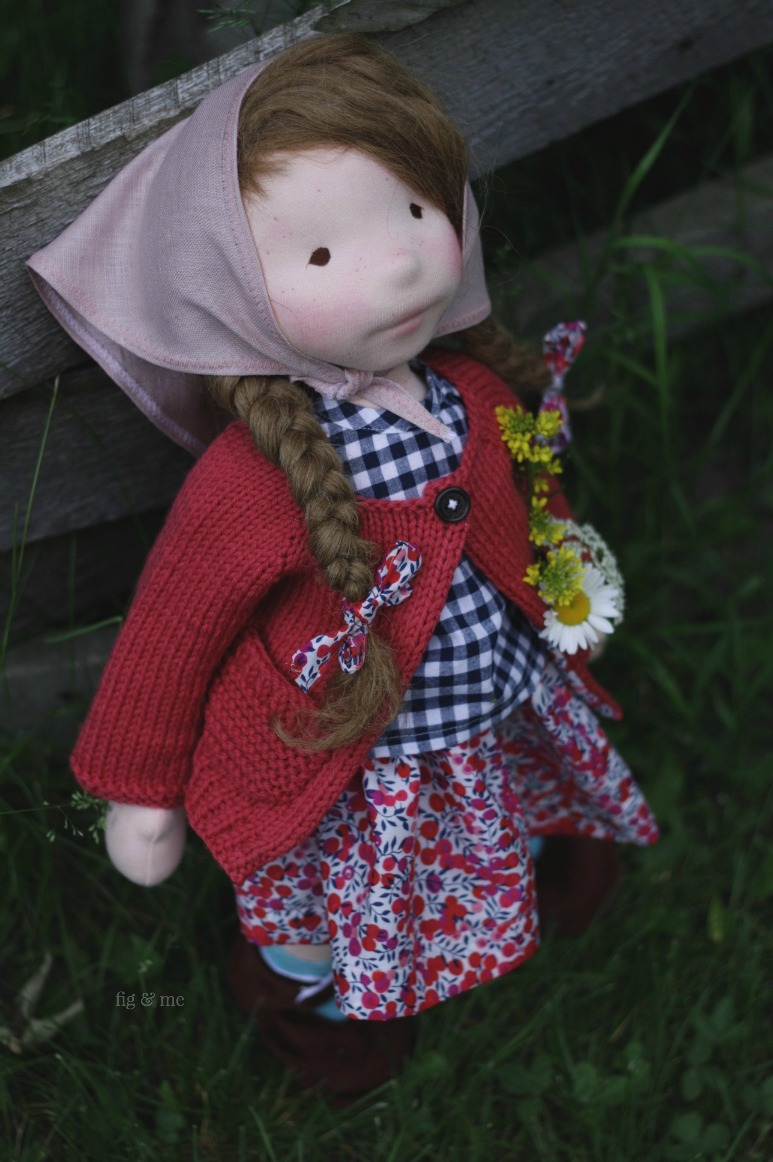 Hedwig, a natural doll by Fig and Me.