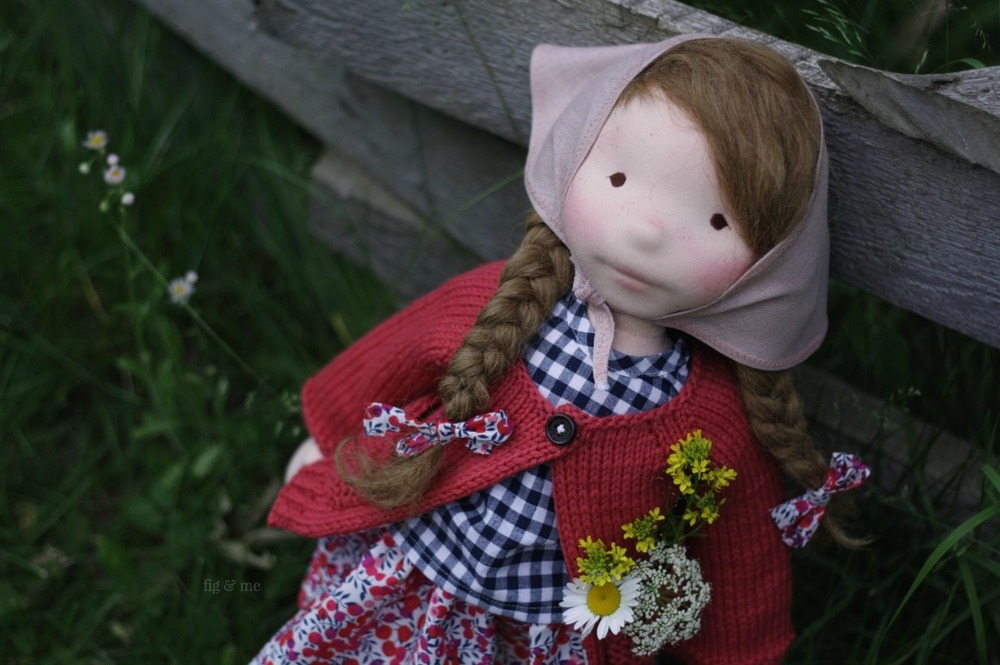 That freckle face! This is Hedwig, a natural doll by Fig and Me.