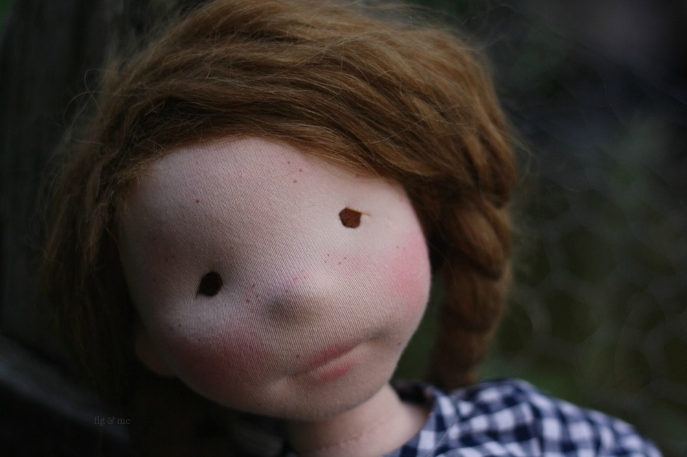 My sweetest Hedwig. A natural doll by Fig and Me.