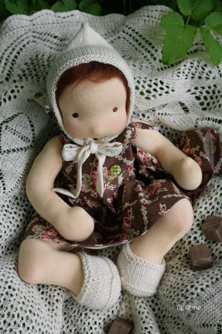 Babe Maia, a waldorf inspired doll made by Fig and Me.