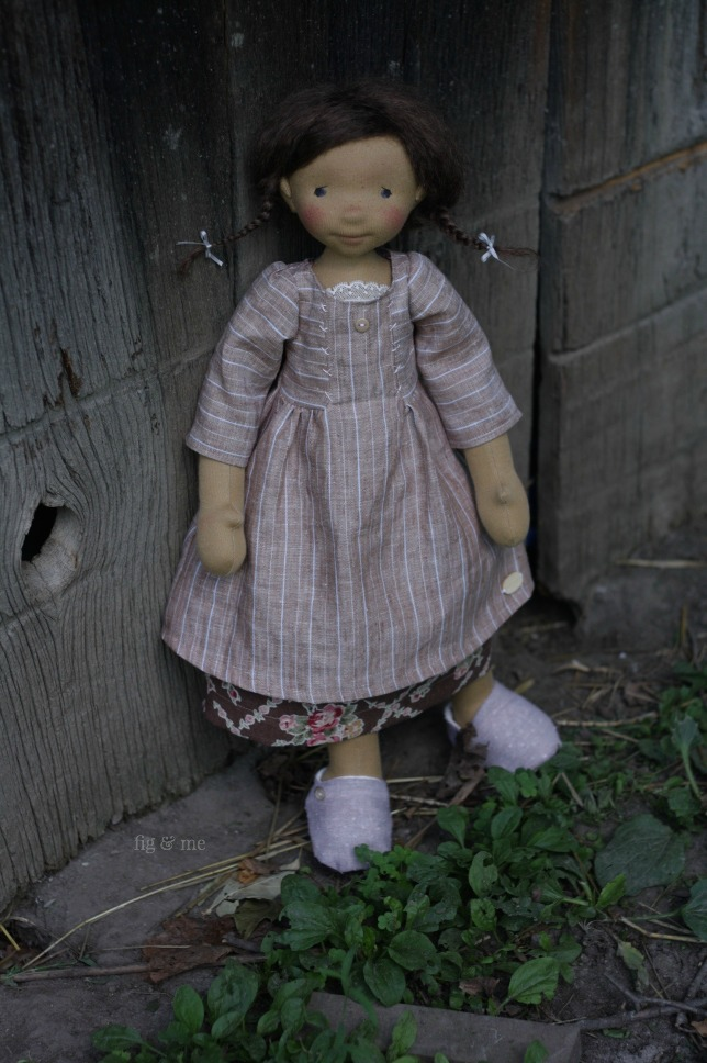 Louella, a natural doll, waldorf inspired, by Fig and me.
