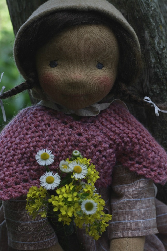 Louella, a natural fiber art doll by Fig and Me.