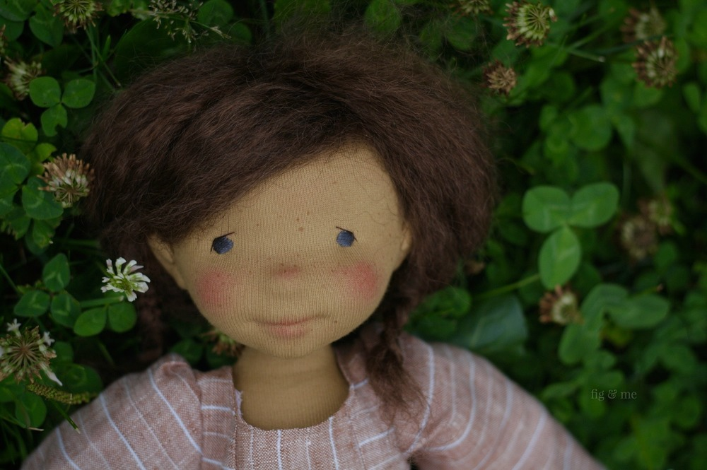 Louella, a natural doll by Fig and Me.
