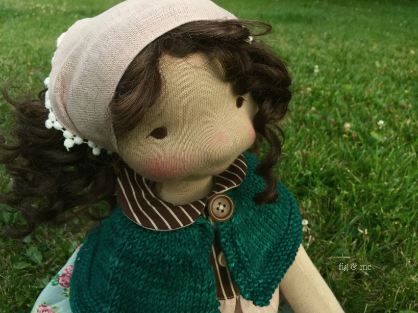 Little Agnes, the dreamer. A natural cloth doll by Fig and Me.