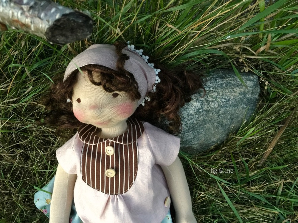 Little Agnes, a waldorf-inspired cloth doll by Fig and Me.