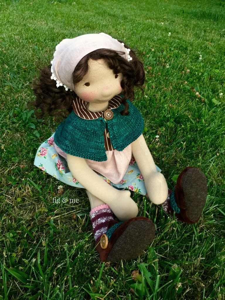 Little Agnes, a natural doll by Fig and Me.