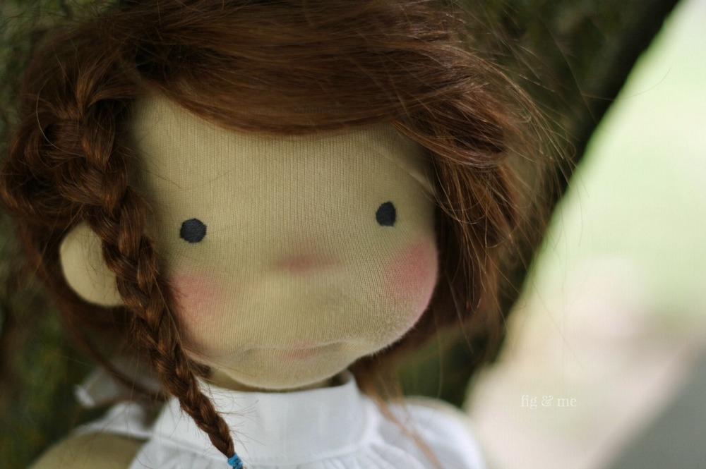 Little Adelheid, an 18inch natural fiber art doll by Fig and Me.