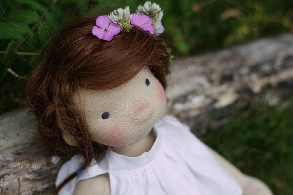Little Miss Adelheid Fancy-Pants, a natural doll by Fig and Me.