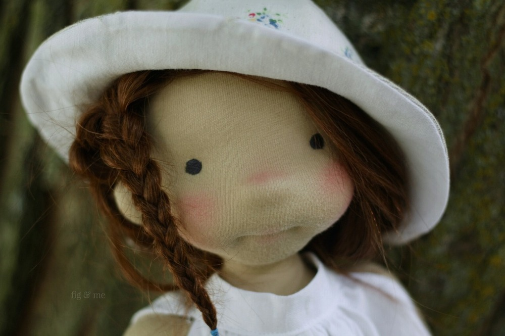 Little Adelheid, a natural waldorf inspired doll by Fig and Me.