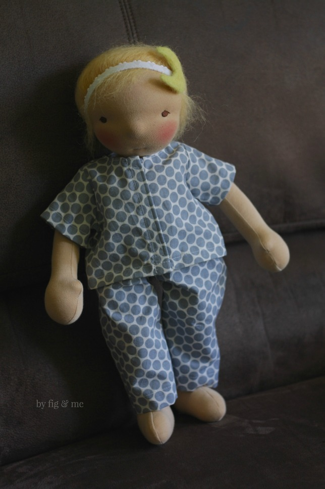 Little Luna, a waldorf style doll by Fig and Me.