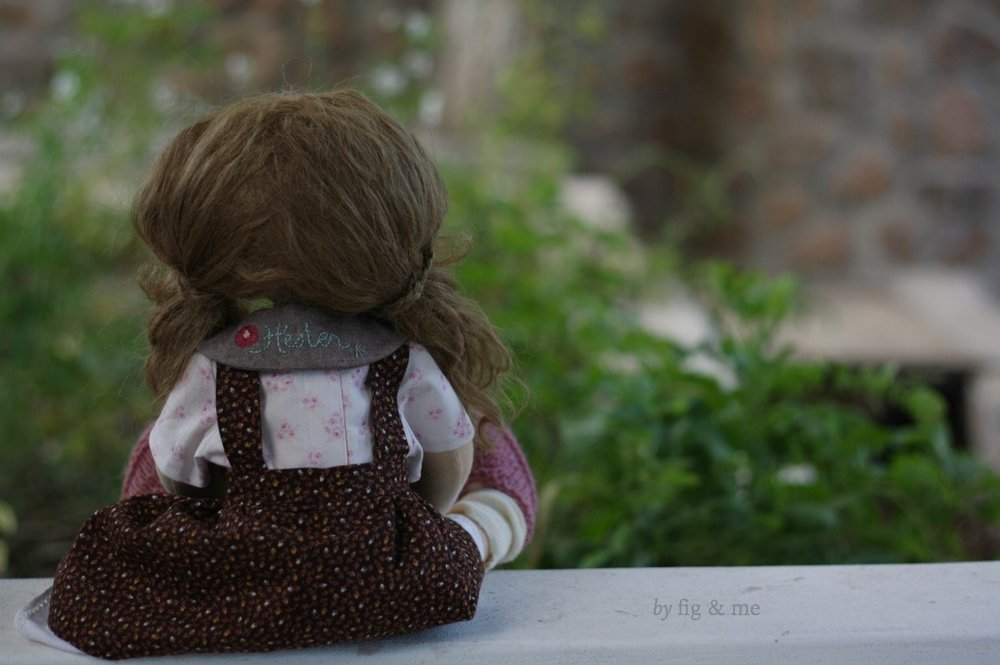 Hester, admiring the garden. By Fig & me.