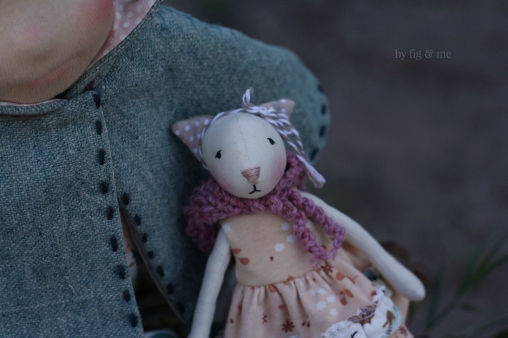 Cedar, a natural cloth doll by Fig and Me.
