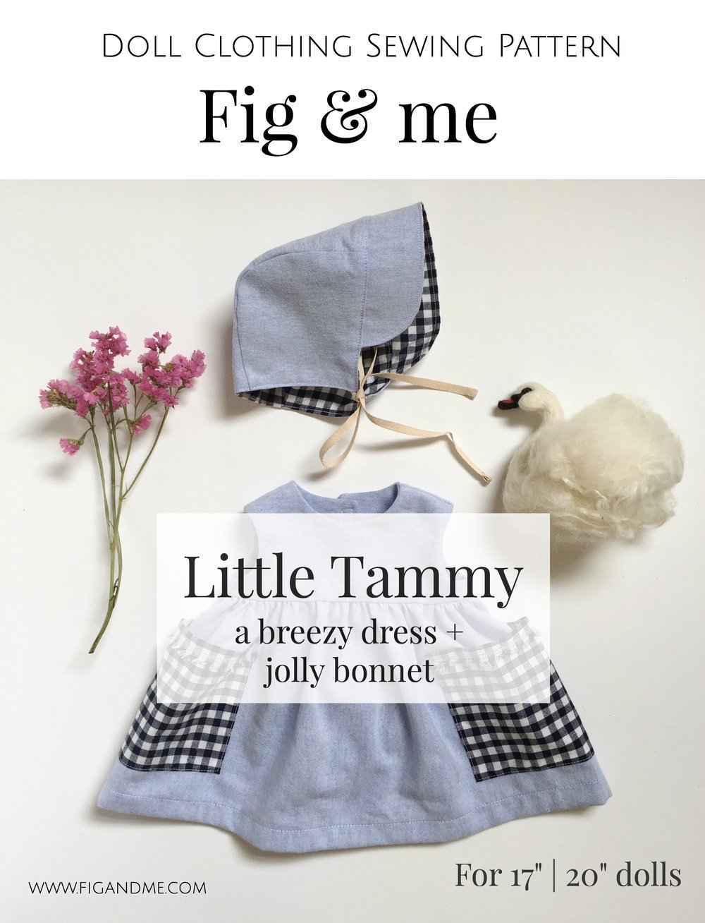 "Little Tammy is a doll clothing sewing pattern by Fig and Me. Suitable for waldorf-inspired or natural fiber art dolls in the 17"" to 20"" category."