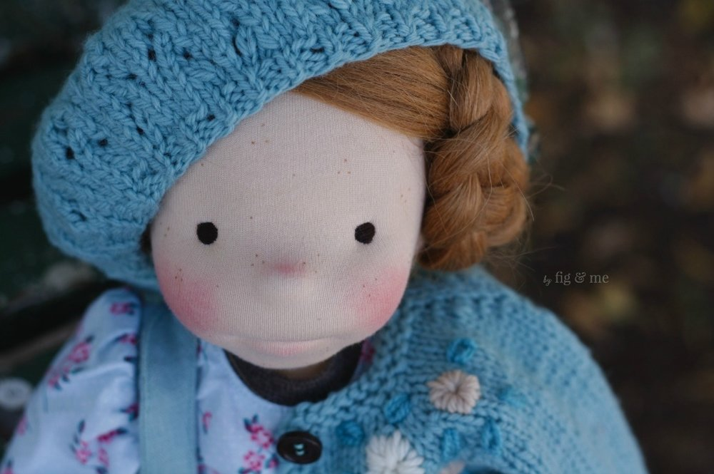 My sweet Pippa, a custom figlette doll by Fig and Me.