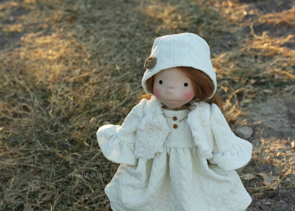 Pippa in her winter clothes, by Fig and Me.