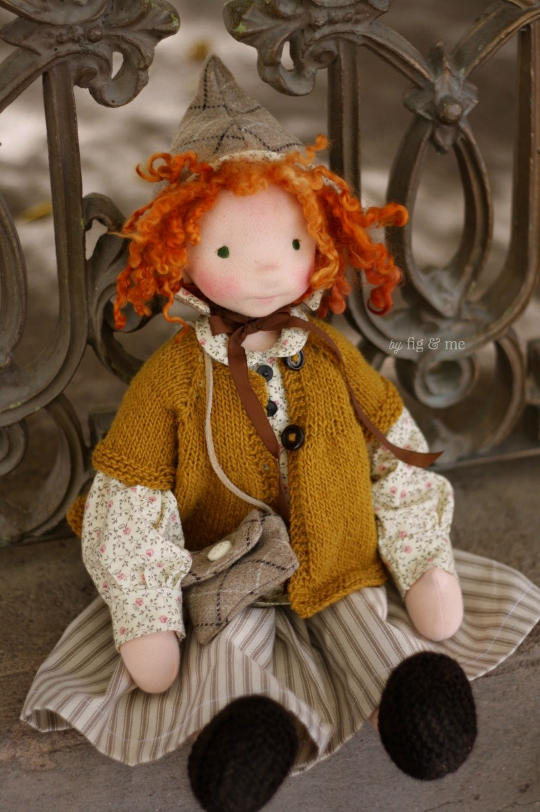 Hestia, natural cloth doll by Fig and Me.