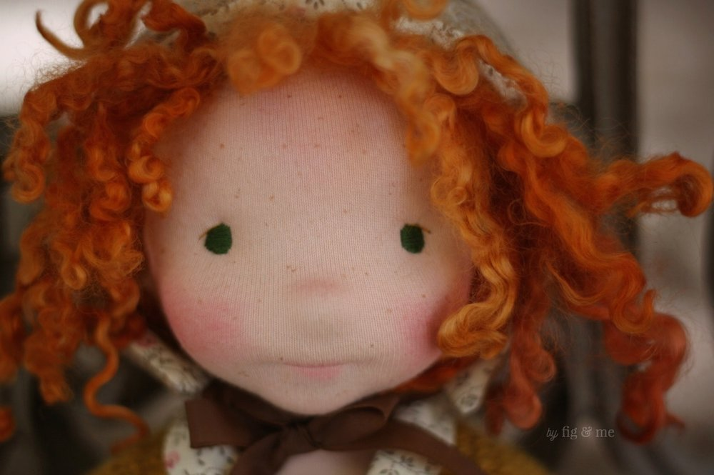 Hestia, a natural fiber art doll by Fig and Me.