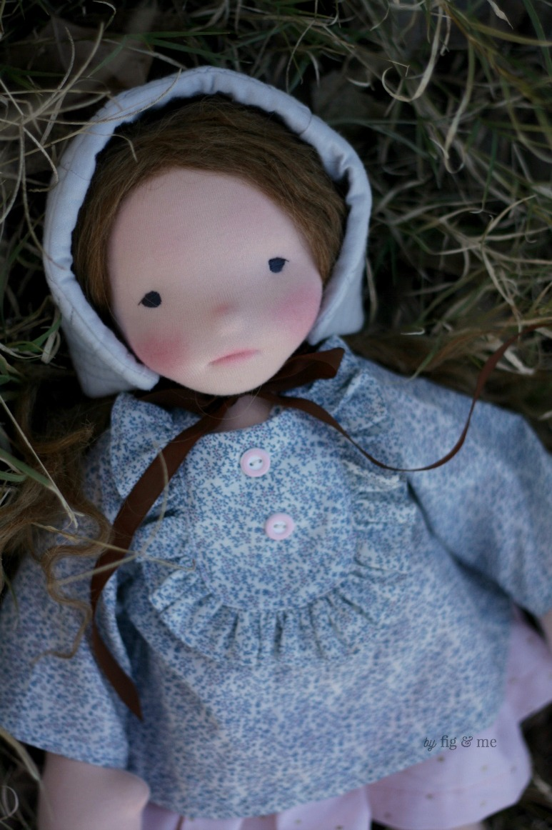Doortje, a natural fiber art waldorf-inspired doll by Fig and Me.