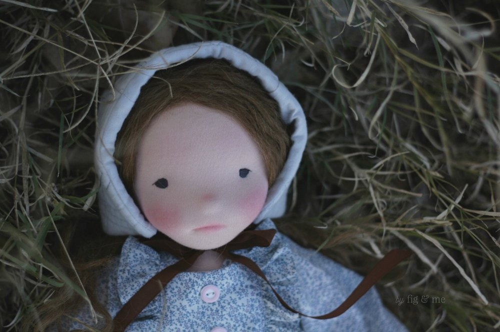 Doortje, a waldorf inspired doll by Fig and Me.