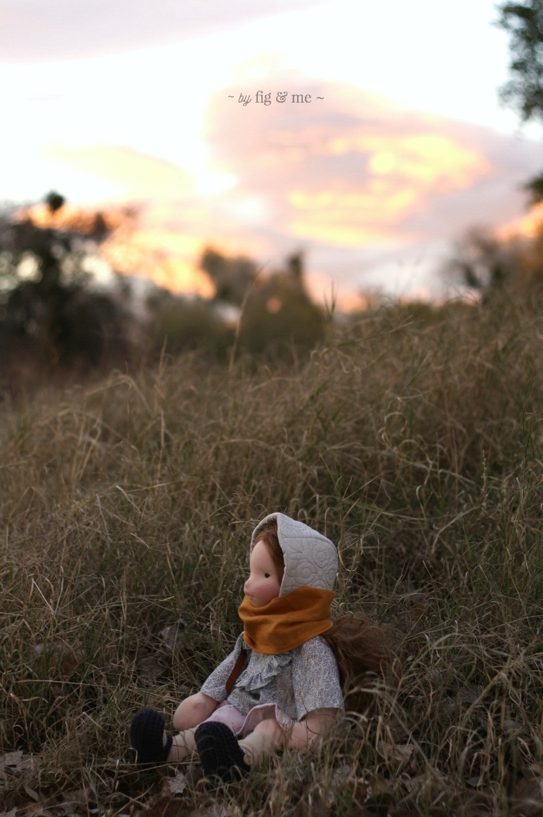 Doortje. A natural doll by Fig and Me.